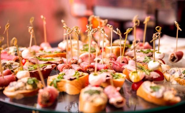Snacks bei der Party