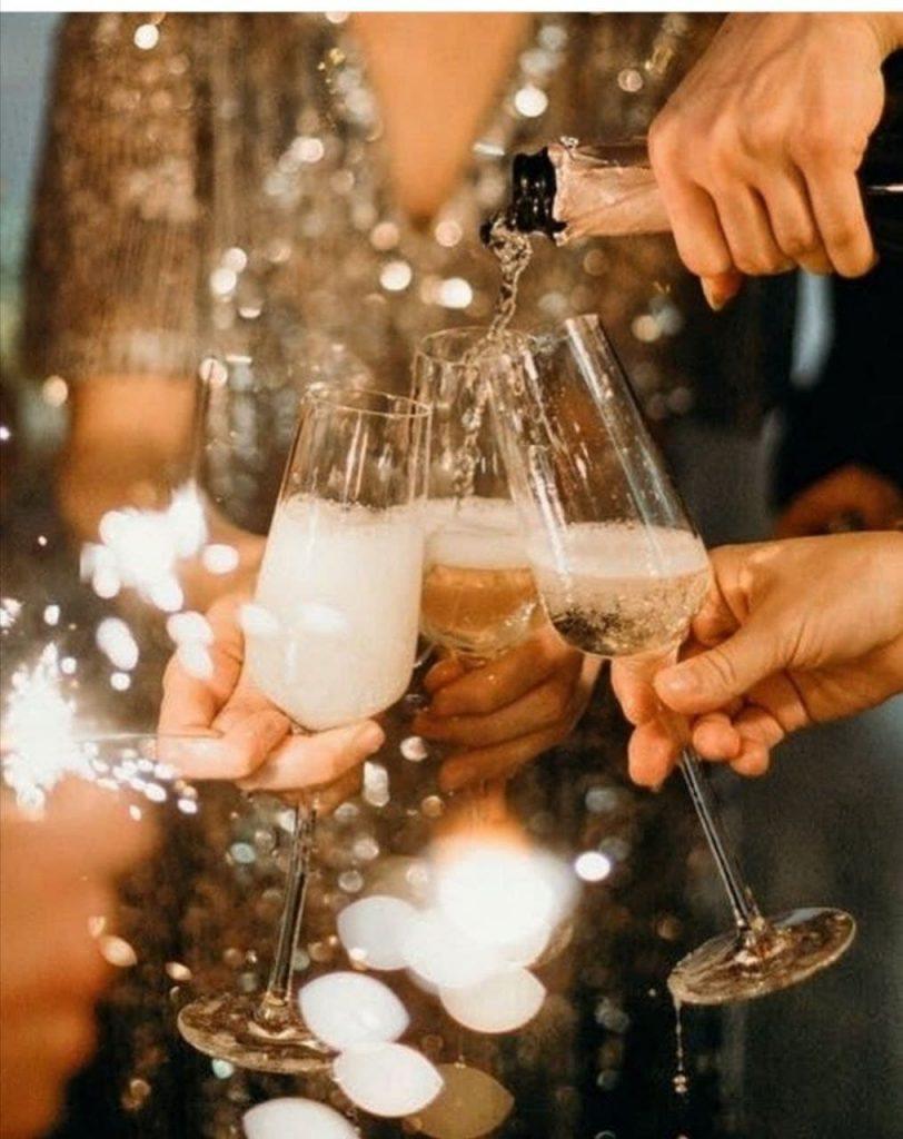 Catering für das Feiern des neuen Jahres